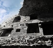 inside carrigafoyle crumbling castle ruins by morrbyte