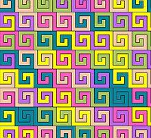 Colorful greek pattern by Marishkayu