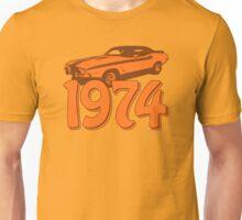 Born in 1974 (orange) Unisex T-Shirt