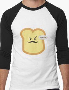 Bonjour French Toast Lover  Men's Baseball ¾ T-Shirt