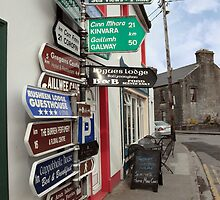 irish road signs on path by morrbyte