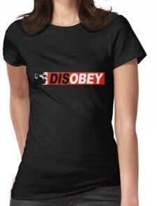 DISOBEY 2 Womens Fitted T-Shirt