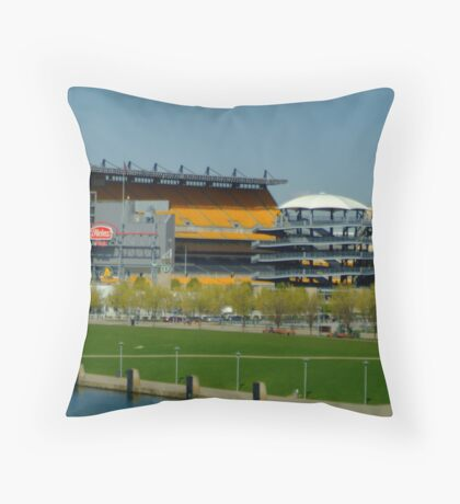 Lets go Steelers Throw Pillow