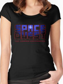 Space Quest Pixel Style - Retro DOS game fan items Women's Fitted Scoop T-Shirt