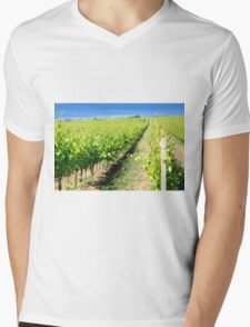 Grapevines in a vineyard. Photographed in Tuscany, Italy Mens V-Neck T-Shirt