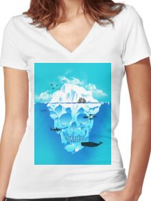 Cold Cruisings and Icy Endings Women's Fitted V-Neck T-Shirt