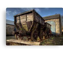 HDR Old Coal Carts Canvas Print