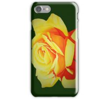Yellow Rose with Green iPhone Case iPhone Case/Skin
