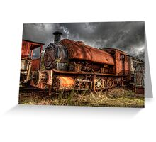 HDR Old Steam Train Greeting Card