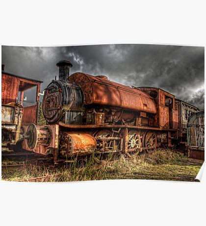 HDR Old Steam Train Poster