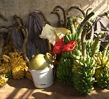 Bunches of Bananas Hanuman Temple by SerenaB