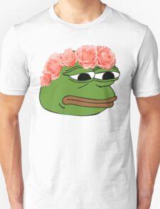 Flower Crown Pepe Frog T-Shirt