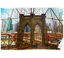 New York. Brooklyn Bridge Poster