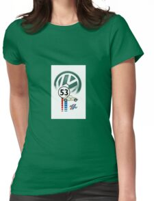 53 THE LOVE BUG CAR VW beatle Womens Fitted T-Shirt