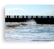 Water Above The Wave! Canvas Print