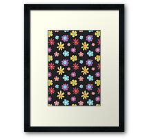 Funky Flowers (dark) Framed Print