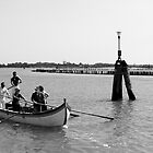 Rowing near Burano Italy by M. van Oostrum