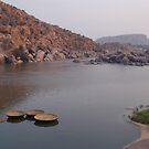 Coracles on the Tungabhadra River by SerenaB