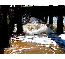 Waves In The Groyne - Expanded! Photographic Print