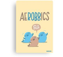 Aerobbics - Sporty Seals Canvas Print