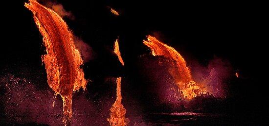 Lava Flow at Kalapana 14 by Alex Preiss