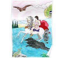 Antinous' boar hunt Poster