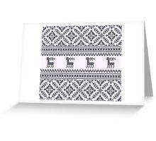Knit pattern Greeting Card