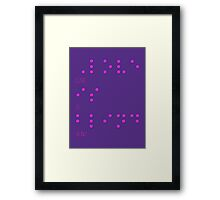 Love is blind (Braille) Framed Print