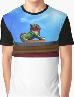 Lion statue in the temple of Confucius Graphic T-Shirt