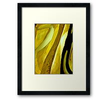 Yellow desire Framed Print