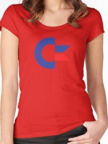 Commodore C64 Retro Classic Symbol Women's Fitted Scoop T-Shirt