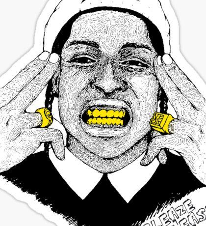 A$AP ROCKY - SLEAZE PLEASE Sticker
