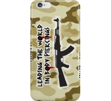 AK-47 Leading the World in Body Piercings iPhone Case/Skin