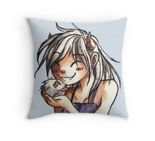 Poro Girl Throw Pillow