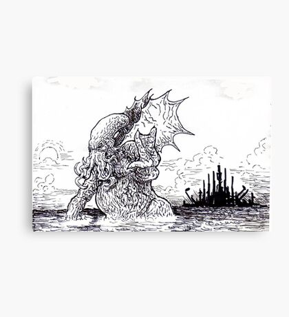 Cthulu shall bring the world under his sway Canvas Print