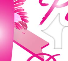 I wear pink for my aun breast cancer Sticker