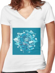 The Cell Women's Fitted V-Neck T-Shirt