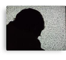 Silhouette on TV Canvas Print