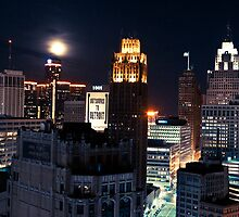 Moon in Detroit by Tina Logan