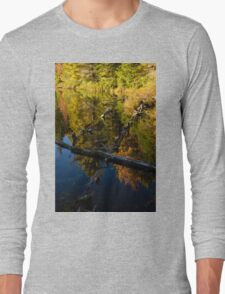 Fall Mirror - Mesmerizing Forest Lake Reflections Long Sleeve T-Shirt