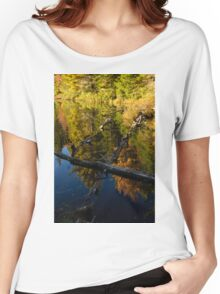 Fall Mirror - Mesmerizing Forest Lake Reflections Women's Relaxed Fit T-Shirt