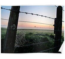 misty rural scene Poster
