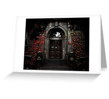 Behind closed doors Greeting Card