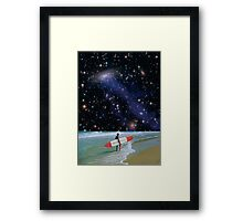 Surfer on Horizon Framed Print