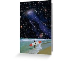 Surfer on Horizon Greeting Card