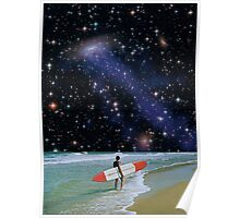 Surfer on Horizon Poster