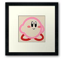 Kirby minimalist Framed Print