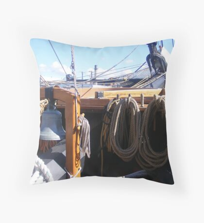 Ropes on Tall Ship Throw Pillow