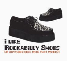 I Like Rockabilly Shoes - T shirt Kids Clothes