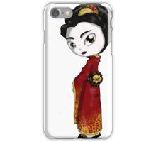 Red Fortune Geisha I iPhone Case/Skin